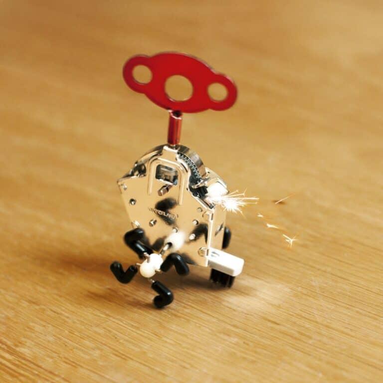 Kikkerland Ping Ling Windup Spark Toy