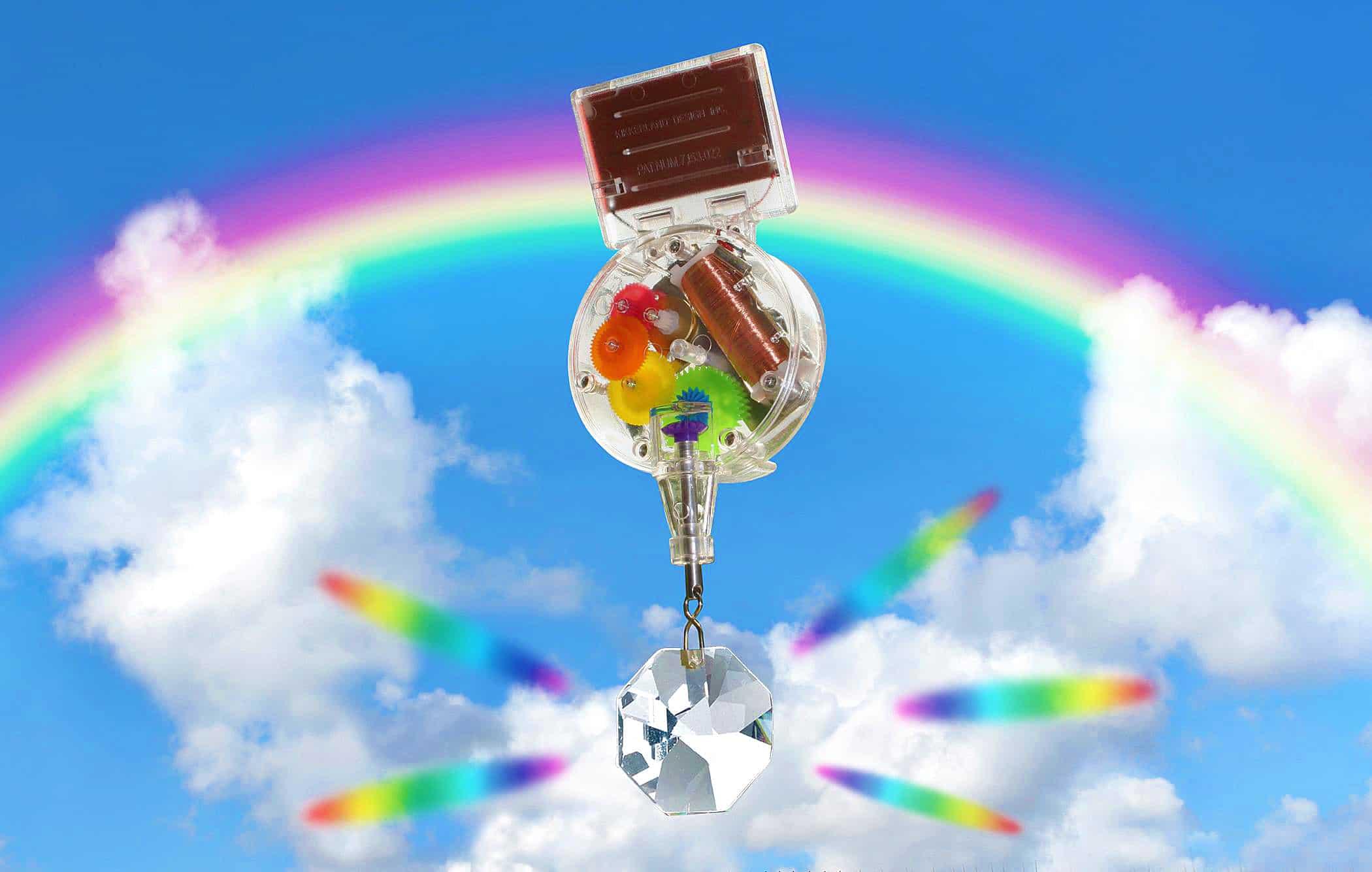 Kikkerland Solar-Powered Rainbow Maker Cool Gift Idea for Kids