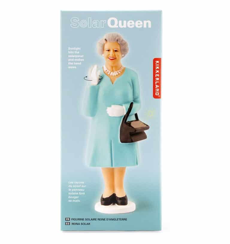 Kikkerland Solar Queen of England Green Dress Box