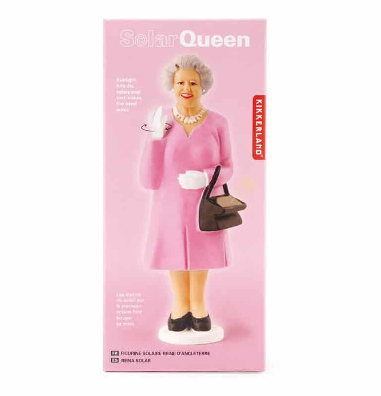 Kikkerland Solar Queen of England Pink Dress Box