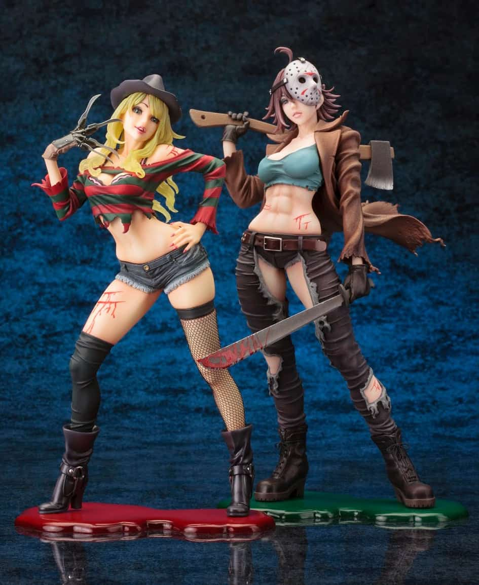 Kotobukiya Freddy vs. Jason Jason Voorhees Bishoujo Statue Friday The 13th Collectible Memorabilia