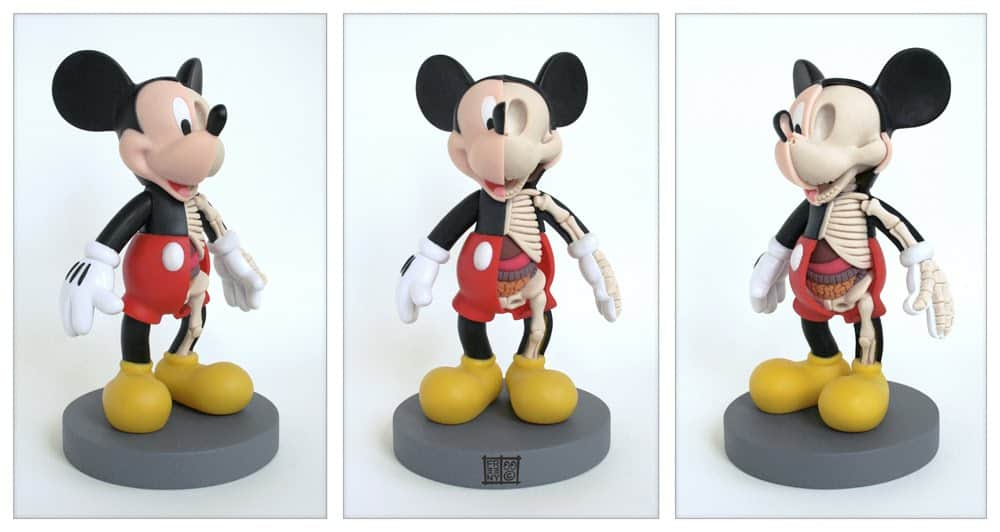Mickey Mouse Anatomy Sculpt by Jason Freeny One of a Kind