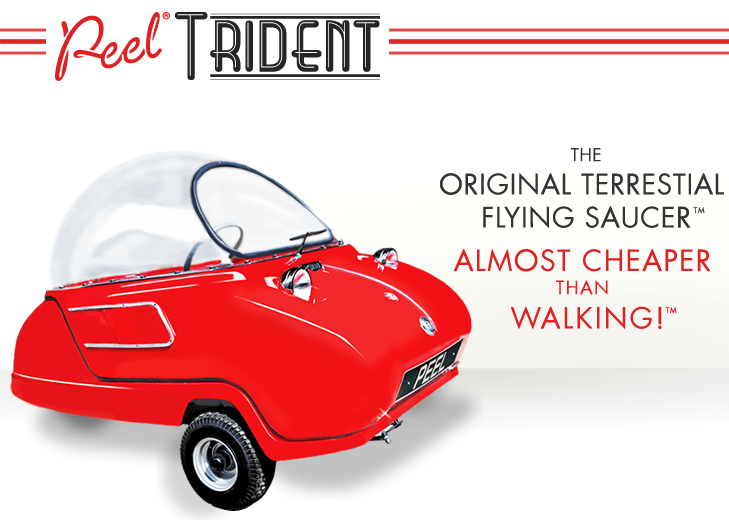 Peel Trident Micro Car The Original Terrestrial Flying Saucer