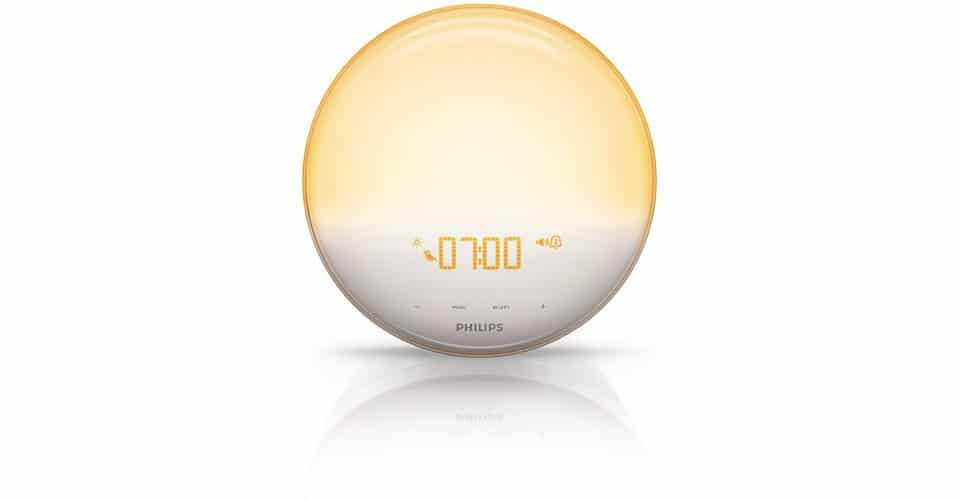 Philips HF3520 Wake-Up Light Colored Sunrise Simulation Cool Alarm Clock