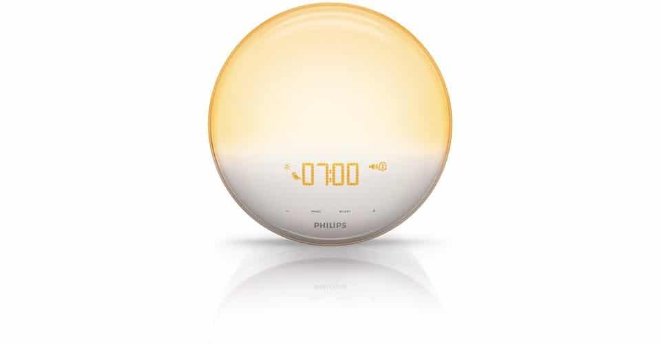 Philips HF3520 Wake-Up Light Colored Sunrise Simulation Cool Alarm Clock