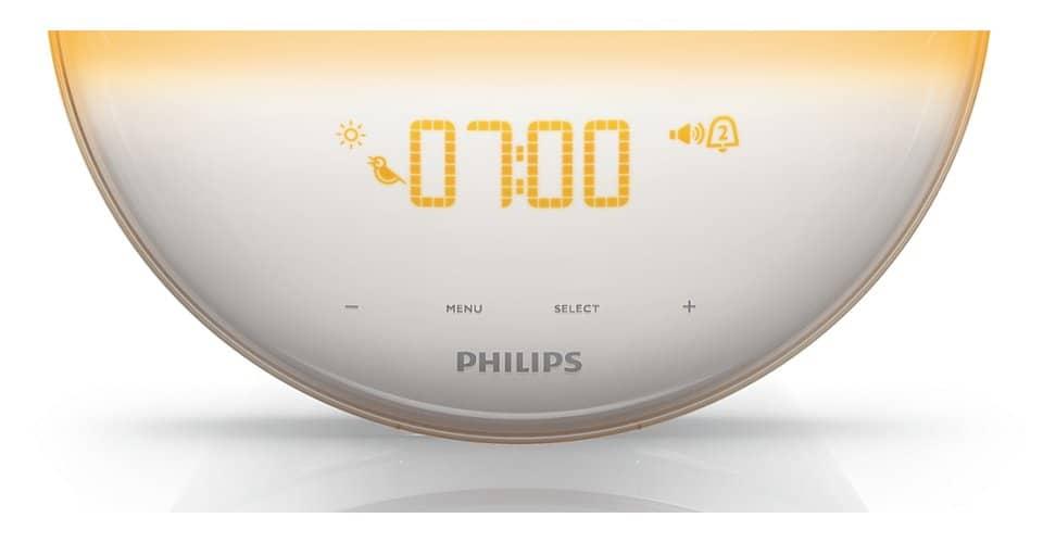 Philips HF3520 Wake-Up Light Colored Sunrise Simulation LED Clock