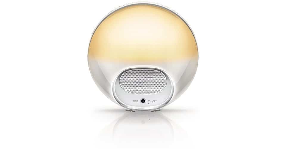Philips HF3520 Wake-Up Light Colored Sunrise Simulation Rear Speaker Detail