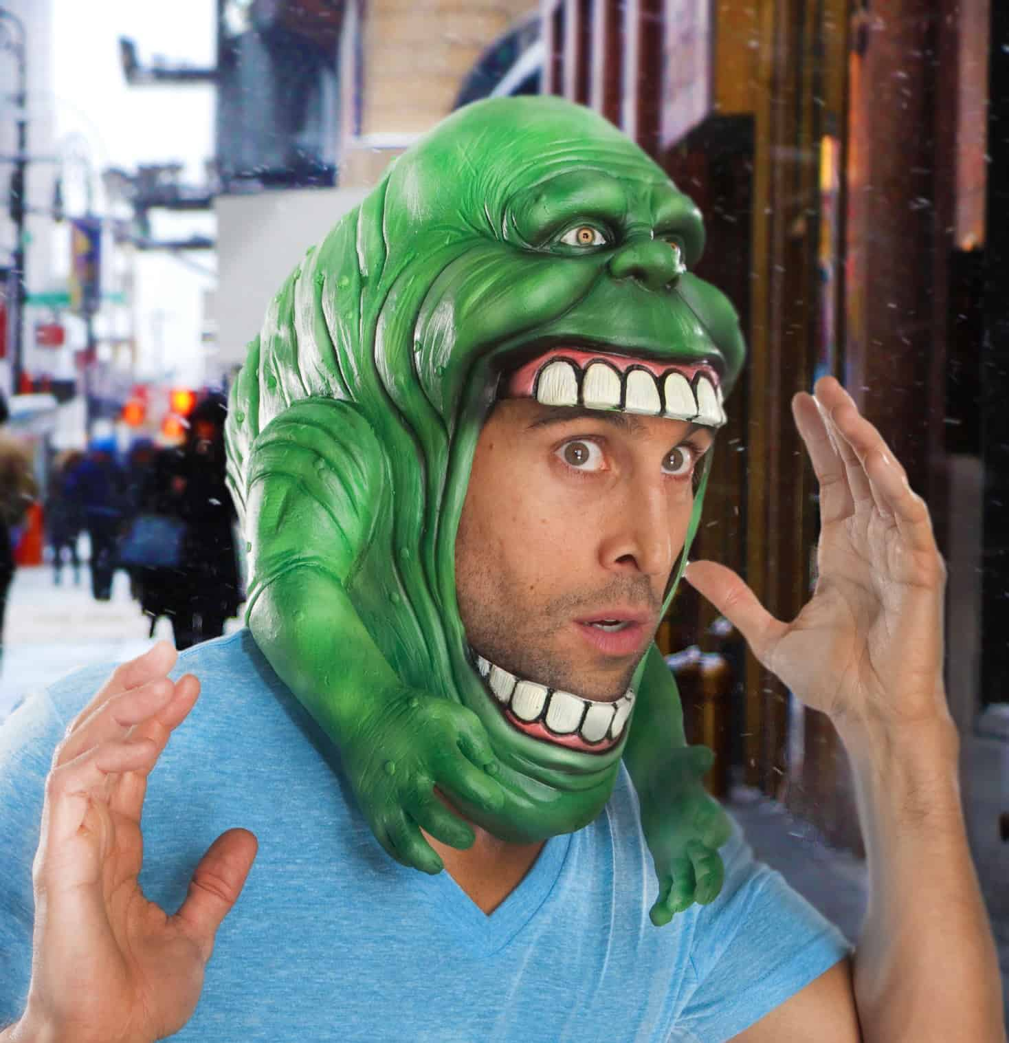 Rubies Ghostbusters Slimer Headpiece Costume Funny Halloween Get Up to Buy
