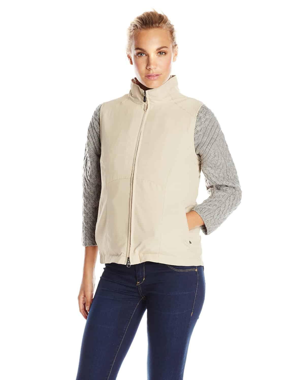 SCOTTeVEST Womens RFID Travel Vest Beige Hidden Pockets