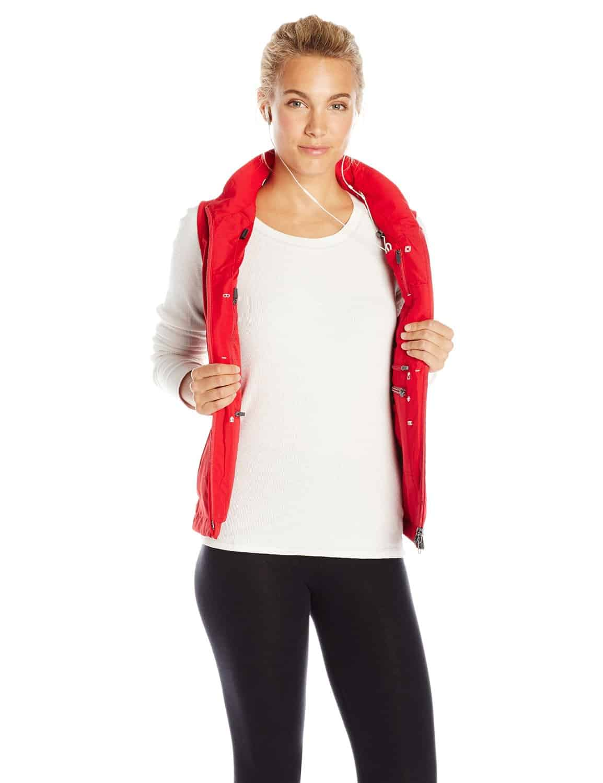 SCOTTeVEST Womens RFID Travel Vest Red Hidden Pockets