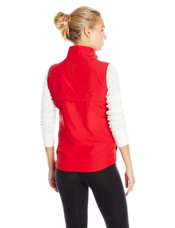 SCOTTeVEST Womens RFID Travel Vest Red Rear