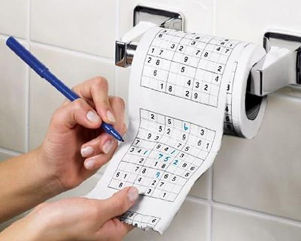 Sudoku Roll Toilet Paper Cool Bathroom Stuff to Buy