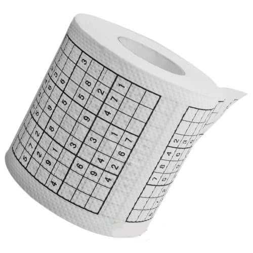 Sudoku Roll Toilet Paper Unique Gift Idea