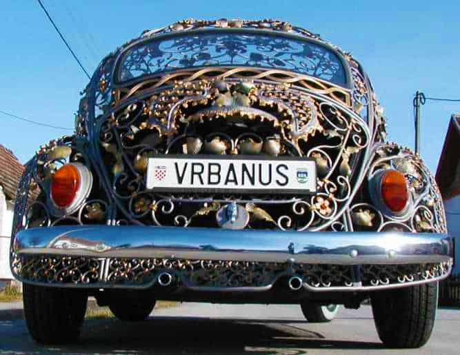 Wrought Iron Beetle by VrBanus Custom Car Plate
