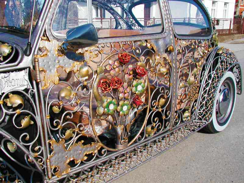 Wrought Iron Beetle by VrBanus Driver Side Custom Door Panel