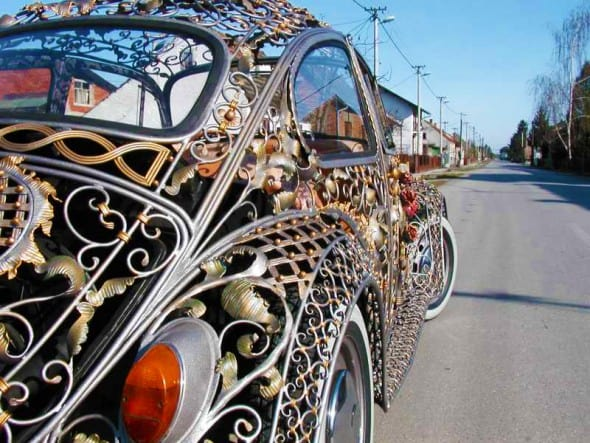Wrought Iron Beetle by VrBanus Vintage Custom Car