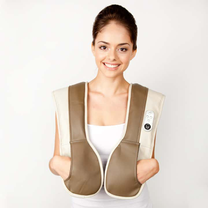 Zyllion ZMA-08 Neck and Shoulder Massager with Heat Cool Gift Idea for Parents