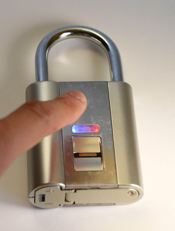 Ifingerlock Fingerprint Biometric Padlock Noveltystreet