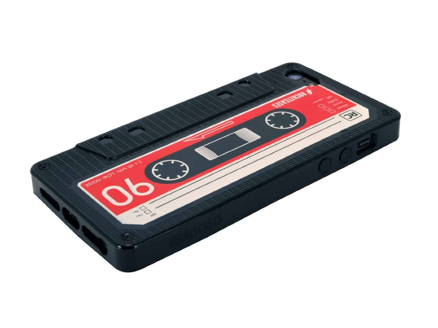 iPhone Cassette Case by Rocketcases Black Retro Design