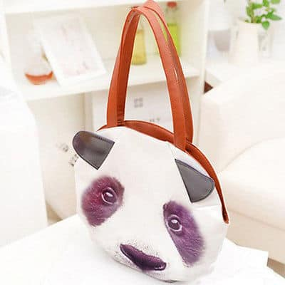 3D Giant Animal Face Tote Bag Panda Unique Gift Idea