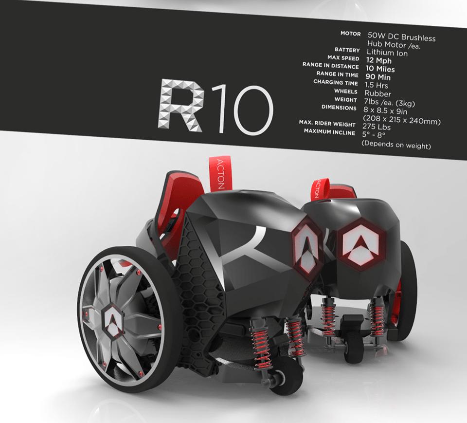 Acton Rocketskates Electric Skates R10 Black What to Buy for Myself