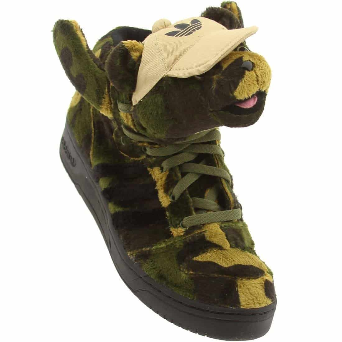 Adidas Jeremy Scott Camo Bear Sneakers Cool Stuff to Buy for Her