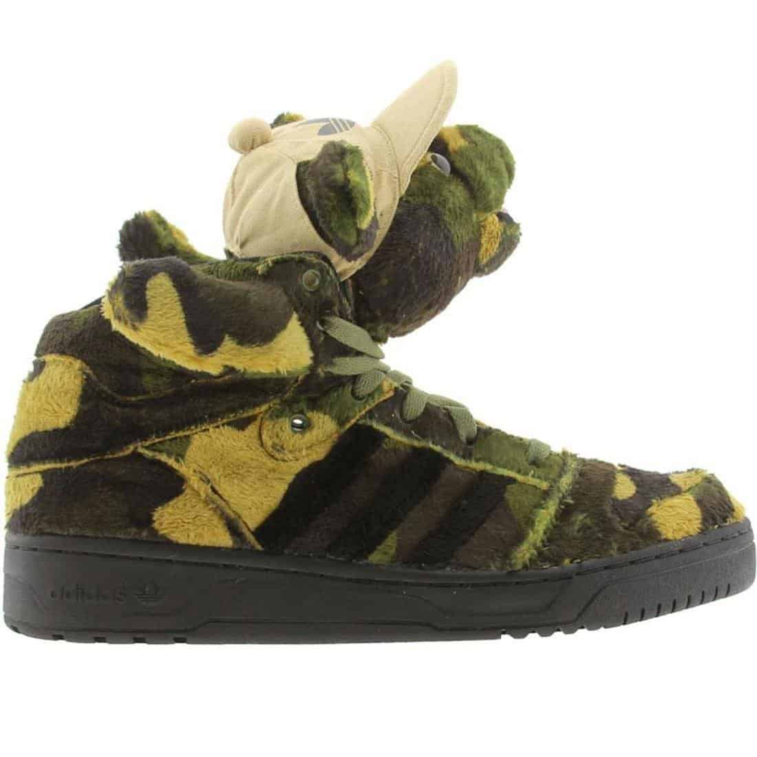 Adidas Jeremy Scott Camo Bear Sneakers Cool Stuff to Buy for Him