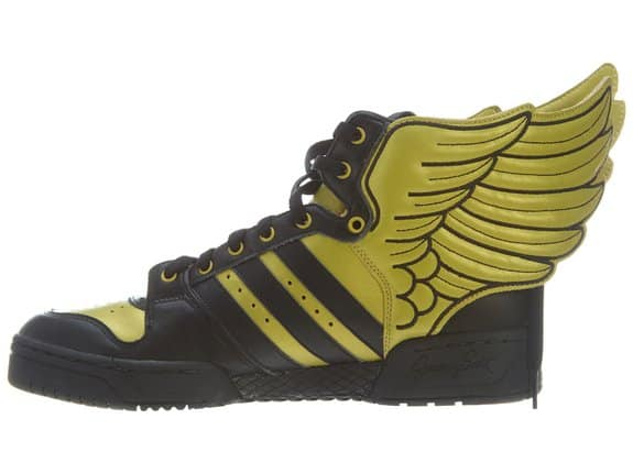 Adidas Jeremy Scott Wings 2.0  Black and Gold Shoes