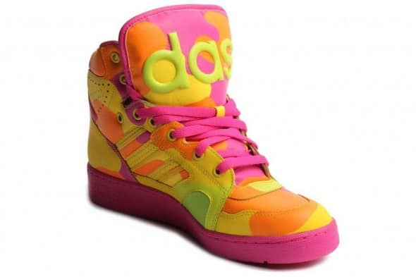 Adidas Mens Jeremy Scott Neon Camo Buy Cool Sneakers