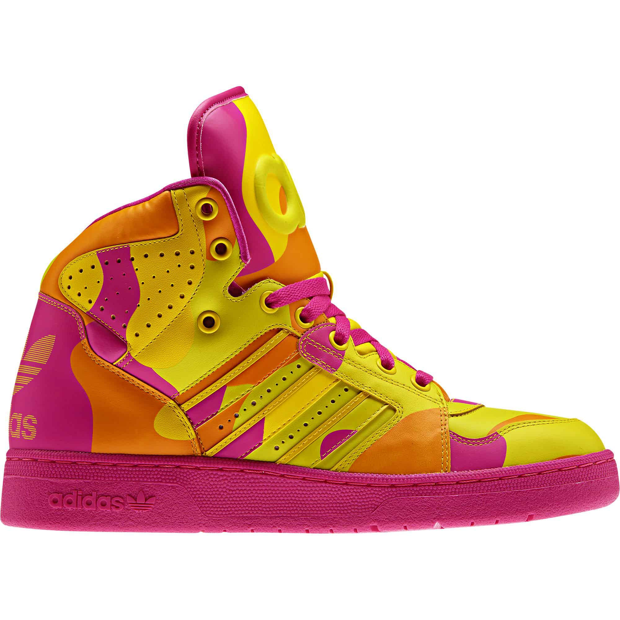 Adidas Mens Jeremy Scott Neon Camo Buy Shoes for Clubbing