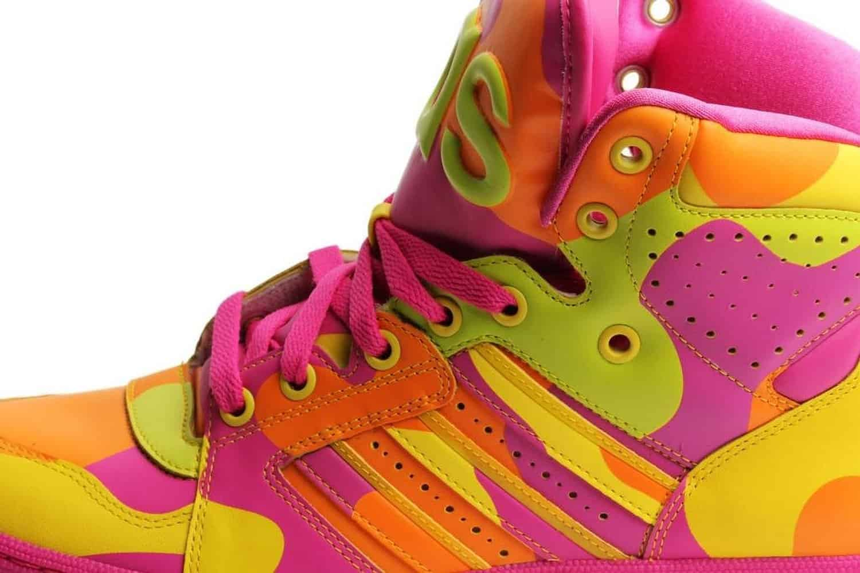 Adidas Mens Jeremy Scott Neon Camo Buy Sneakers for Clubbing