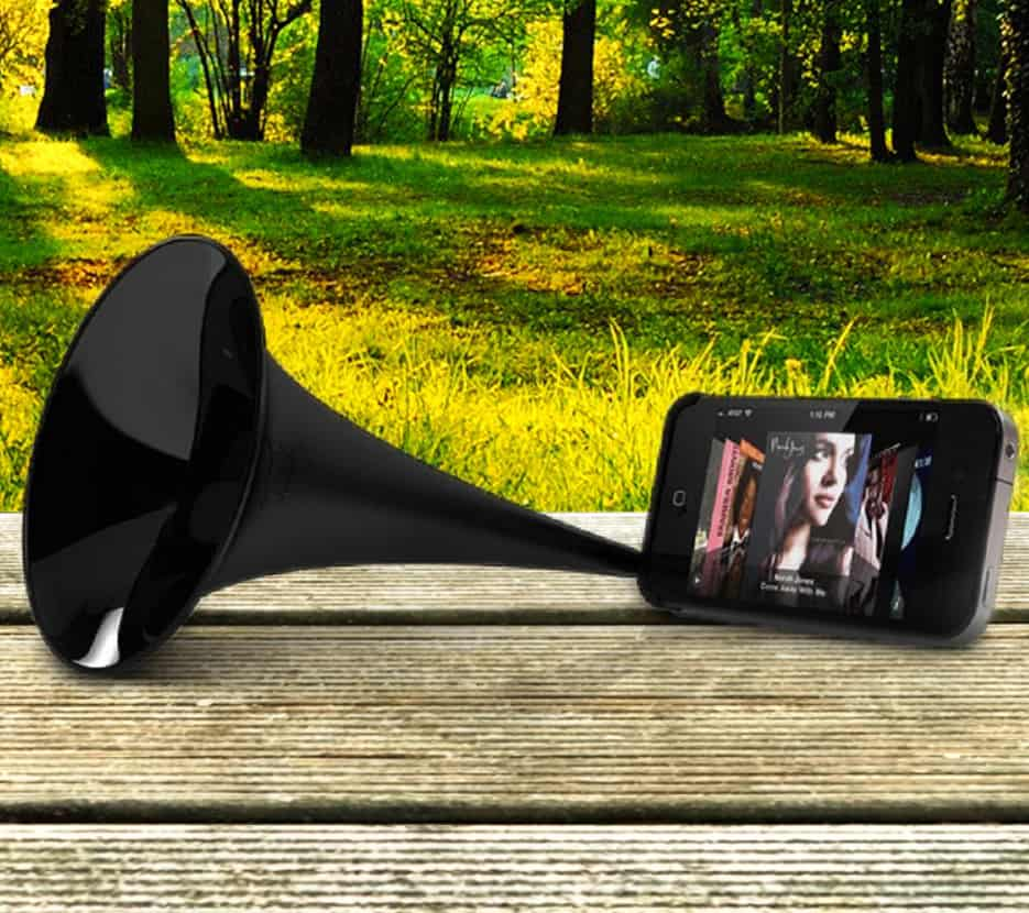Arkcanary II Analogue Speaker for iPhone Black Cool Gift to Buy for Kids and Musicians