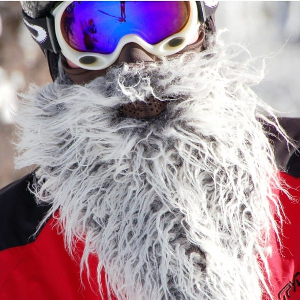 Never ski without the beard.