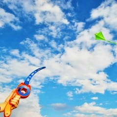 The easiest way to fly a kite.