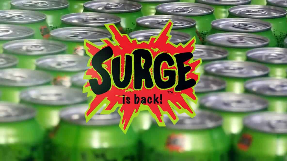 Coca Cola Surge Soda Blast from the Past