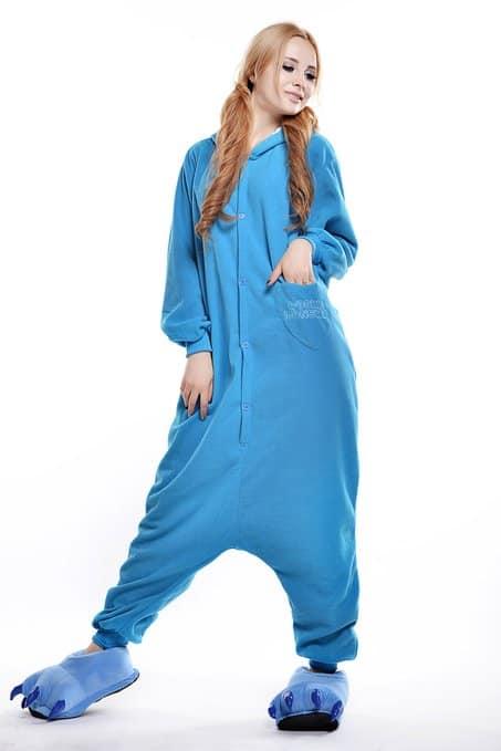 Cookie Monster Unisex Adult Pajama Plush Sleep Wear