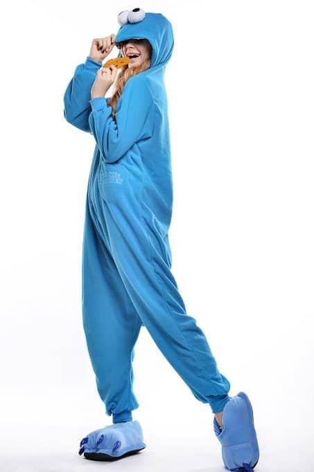 Cookie Monster Unisex Adult Pajama Sesame Street