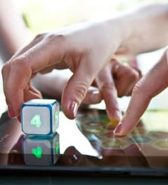 An electronic dice for the modern board game.