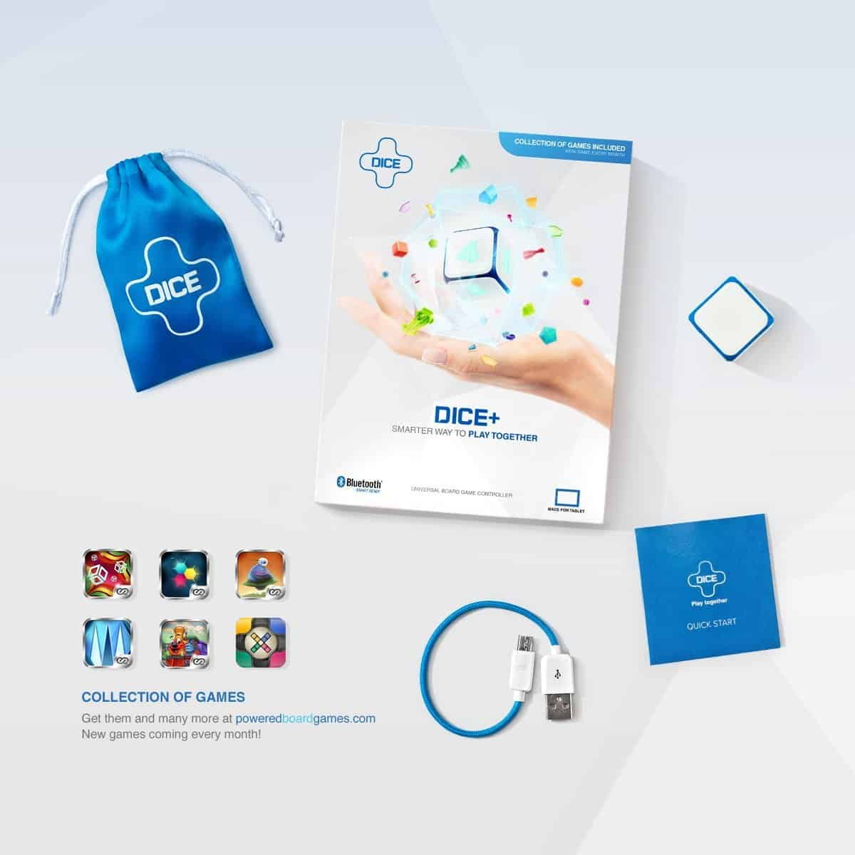 DICE+ Bluetooth Gaming Dice Inside the Box