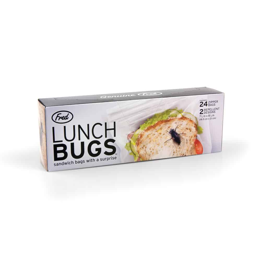 Fred Lunch Bugs Ziplock Sandwich Bags Cockroach Inside