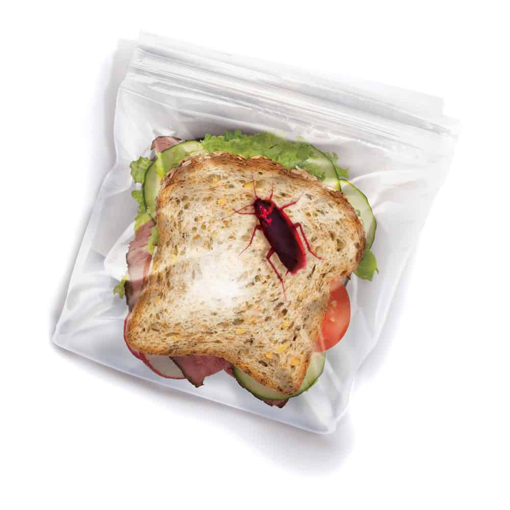Fred Lunch Bugs Ziplock Sandwich Bags Funny Cheap Joke Idea