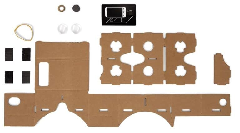 Google Cardboard Virtual Reality Headset DIY Parts