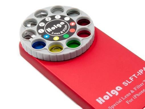 Holga iPhone Filter Lens Case Red Gift Idea