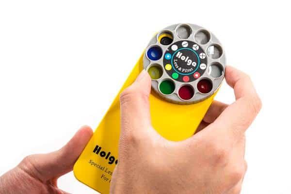 Holga iPhone Filter Lens Case Yellow Retro Phone Design