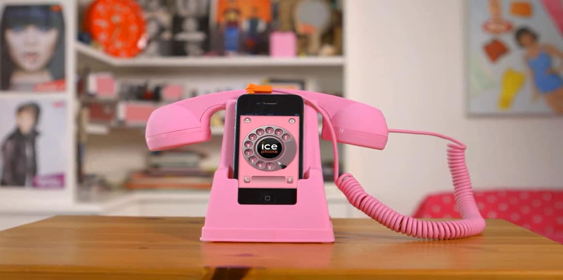 Ice Phone Retro Phone Dock and Handset Pink Buy Cool Gift for Her