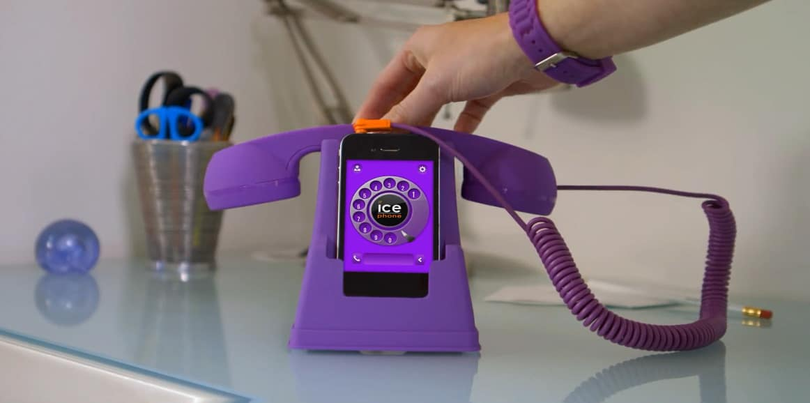 Ice Phone Retro Phone Dock and Handset Purple Cool Stuff to Buy for Kids