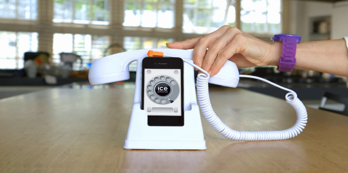 Ice Phone Retro Phone Dock and Handset White Buy a Unique Gift Idea for Kids