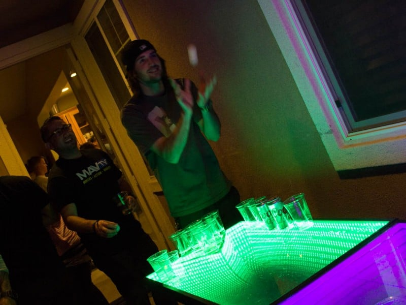 Infinity Glow Party Beer Pong Table Shot