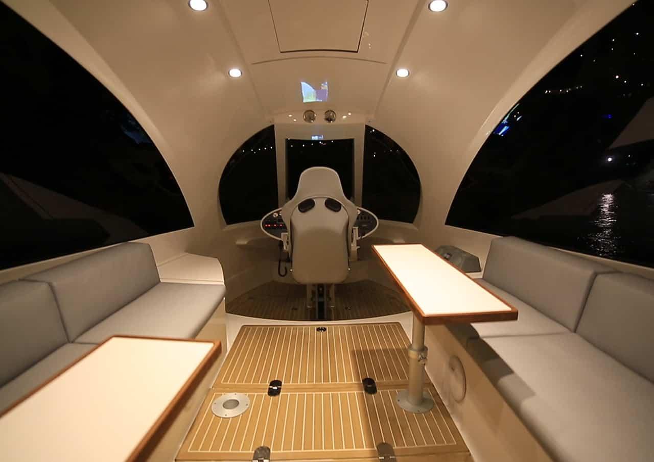 Jet Capsule Interior with Wooden Flooring
