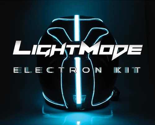 LightMode Electroluminescent Motorcycle Helmets Electron Kit Tron Inspired